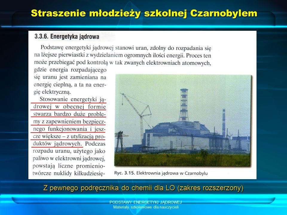 Straszenie młodzieży szkolnej Czarnobylem