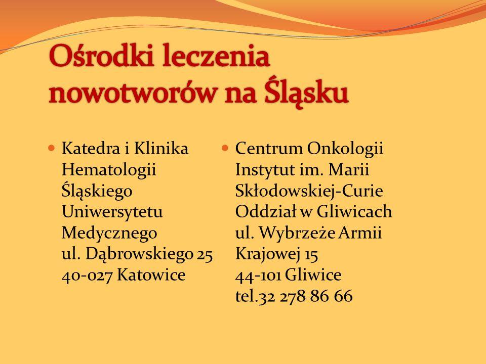 Ośrodki leczenia nowotworów na Śląsku