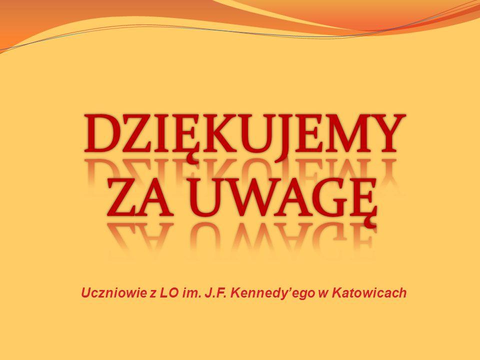 Uczniowie z LO im. J.F. Kennedy'ego w Katowicach