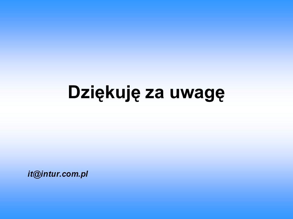 Dziękuję za uwagę it@intur.com.pl