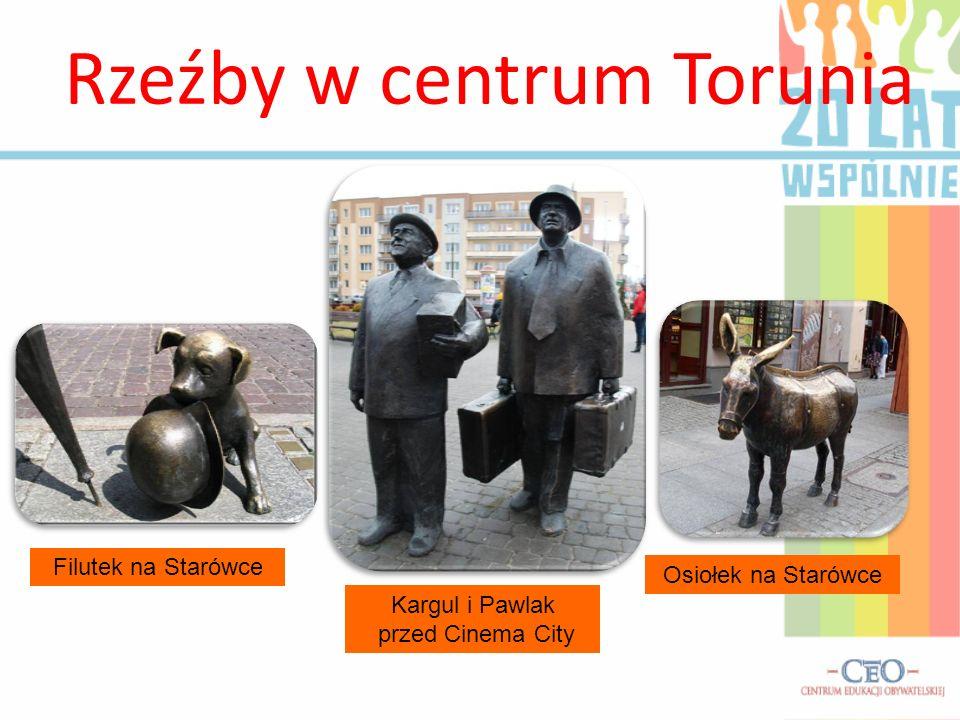 Rzeźby w centrum Torunia
