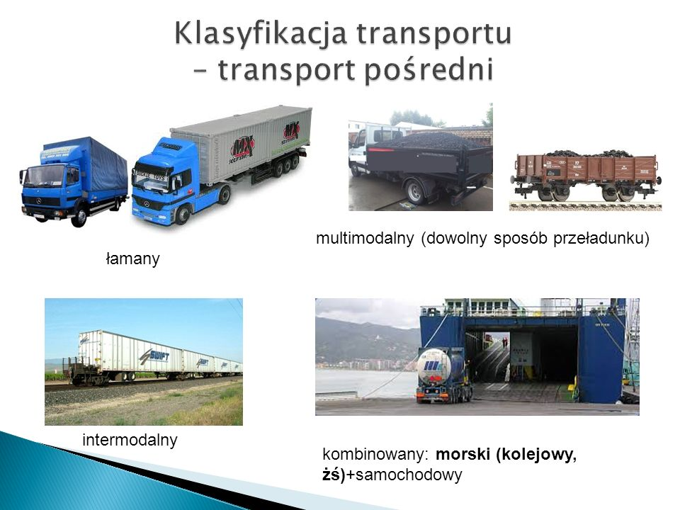Klasyfikacja transportu – transport pośredni