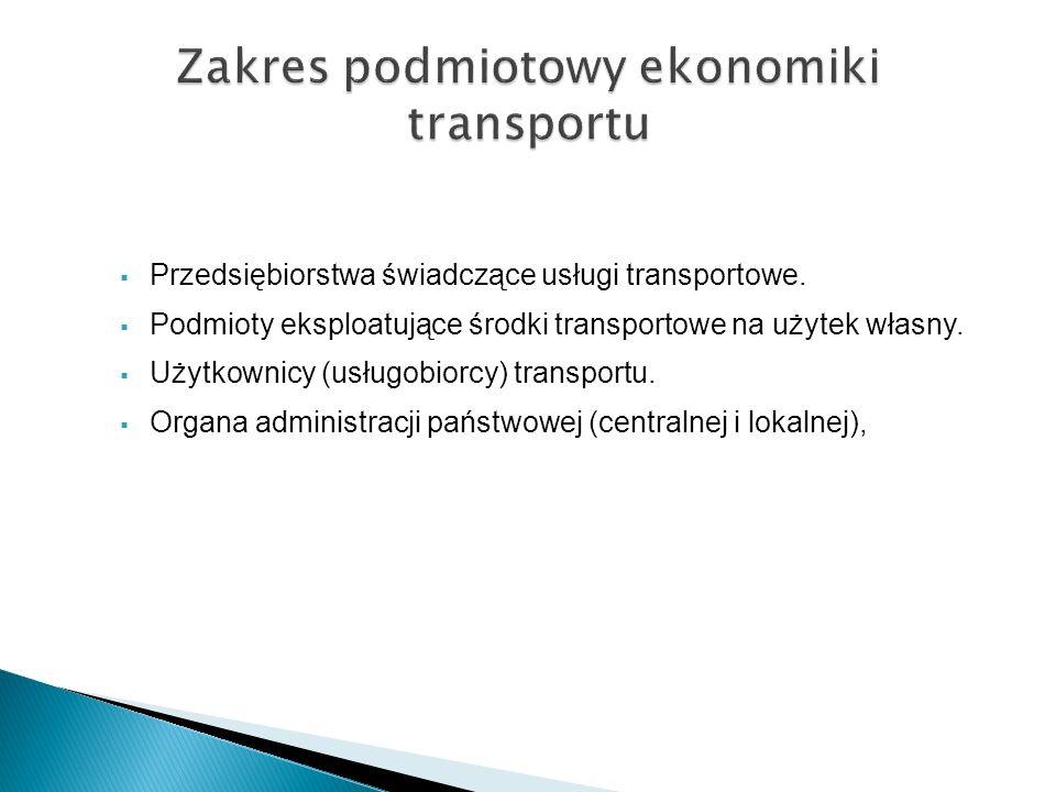 Zakres podmiotowy ekonomiki transportu