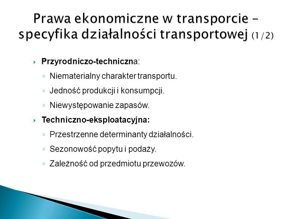 Prawa ekonomiczne w transporcie – specyfika działalności transportowej (1/2)
