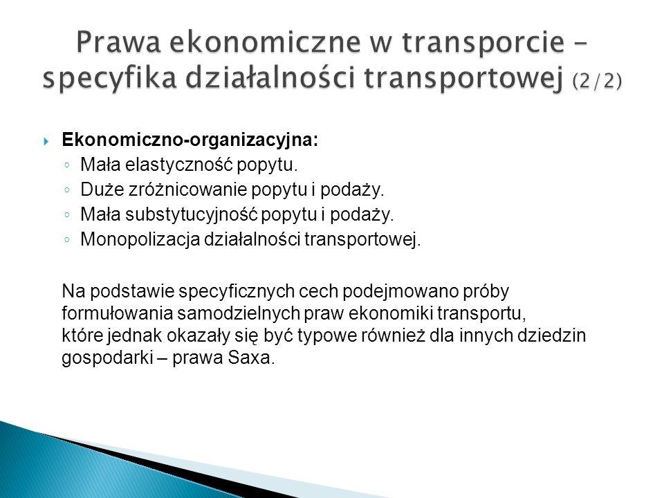 Prawa ekonomiczne w transporcie – specyfika działalności transportowej (2/2)