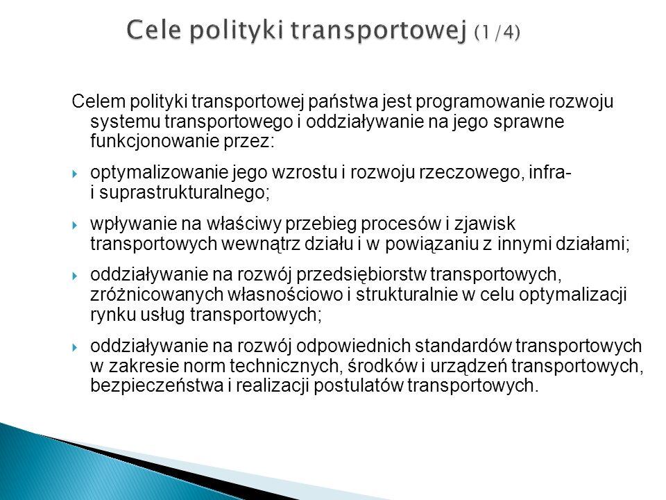Cele polityki transportowej (1/4)