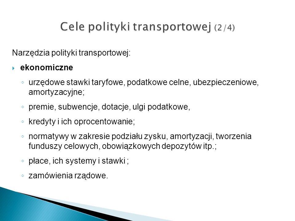 Cele polityki transportowej (2/4)