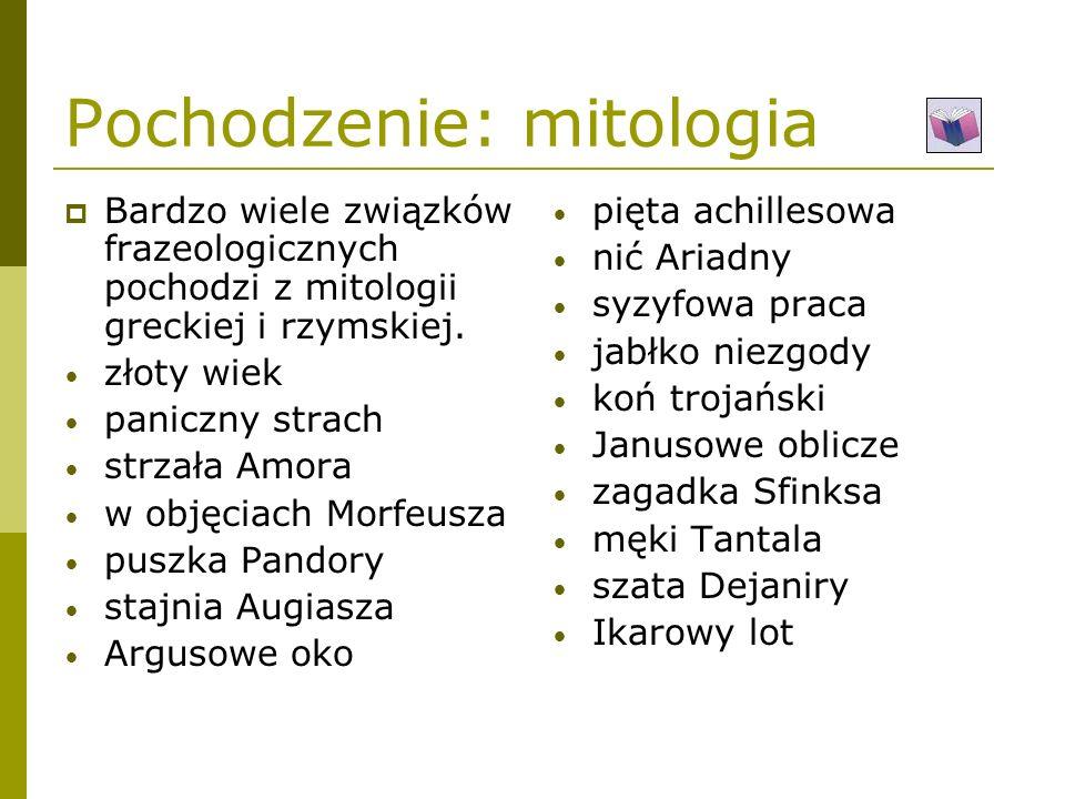 Pochodzenie: mitologia