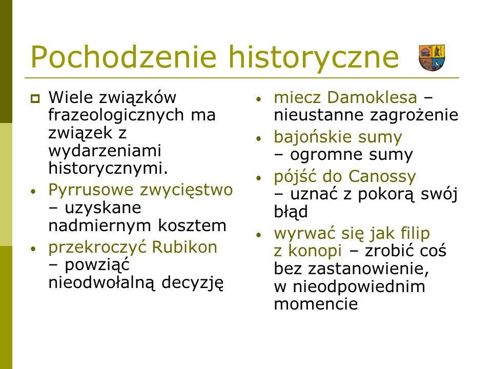 Pochodzenie historyczne