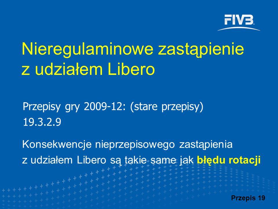 Nieregulaminowe zastąpienie z udziałem Libero