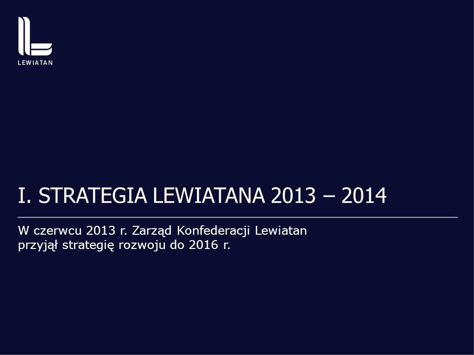 I. STRATEGIA LEWIATANA 2013 – 2014