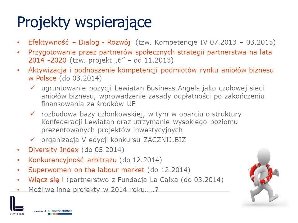 Projekty wspierające Efektywność – Dialog - Rozwój (tzw. Kompetencje IV 07.2013 – 03.2015)
