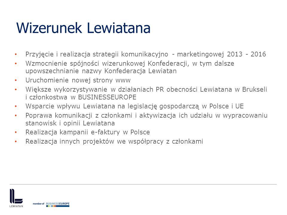 Wizerunek Lewiatana Przyjęcie i realizacja strategii komunikacyjno - marketingowej 2013 - 2016.
