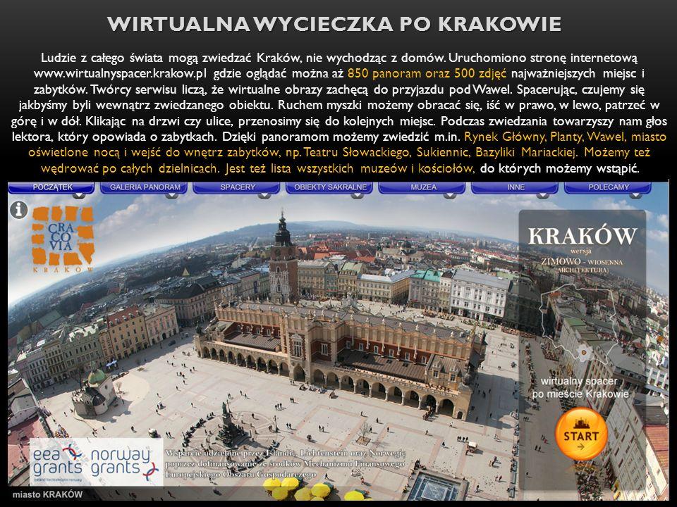 Wirtualna wycieczka po Krakowie
