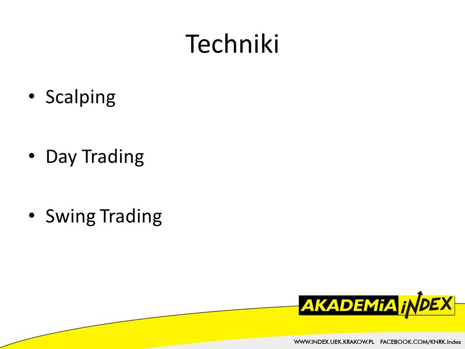 Techniki Scalping Day Trading Swing Trading