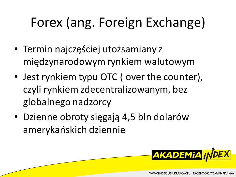 Forex (ang. Foreign Exchange)