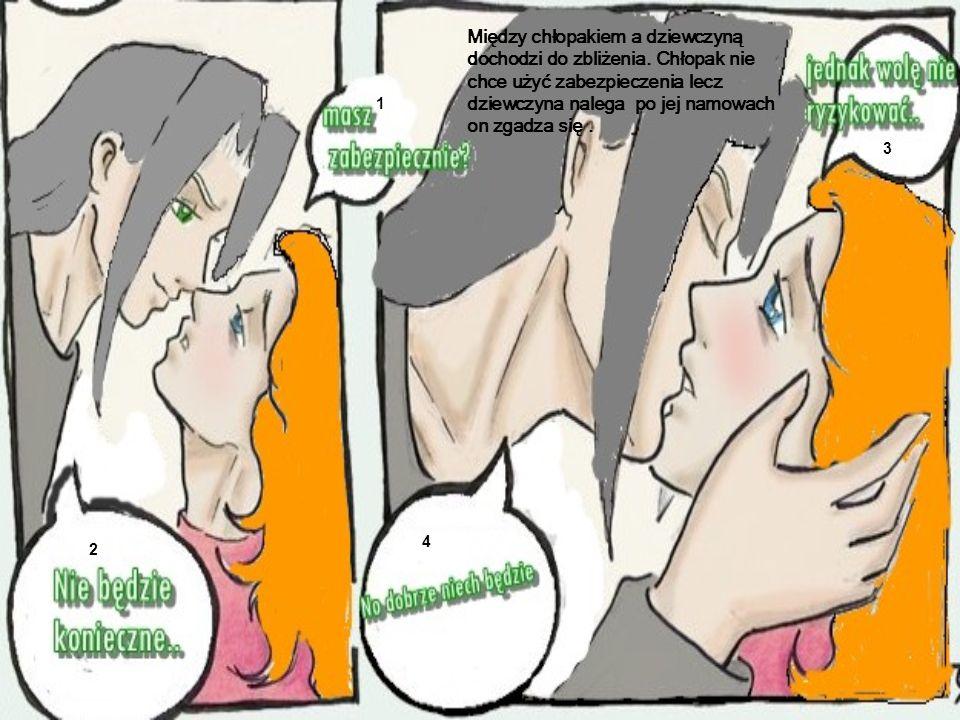 Między chłopakiem a dziewczyną dochodzi do zbliżenia
