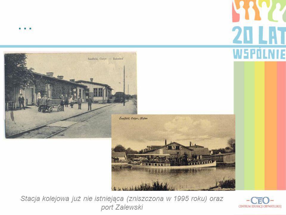 … Stacja kolejowa już nie istniejąca (zniszczona w 1995 roku) oraz port Zalewski