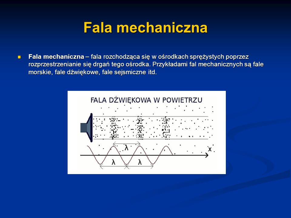Fala mechaniczna