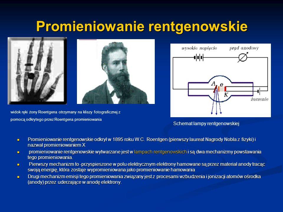 Promieniowanie rentgenowskie