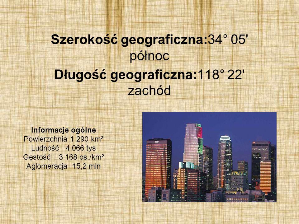 Szerokość geograficzna:34° 05 północ