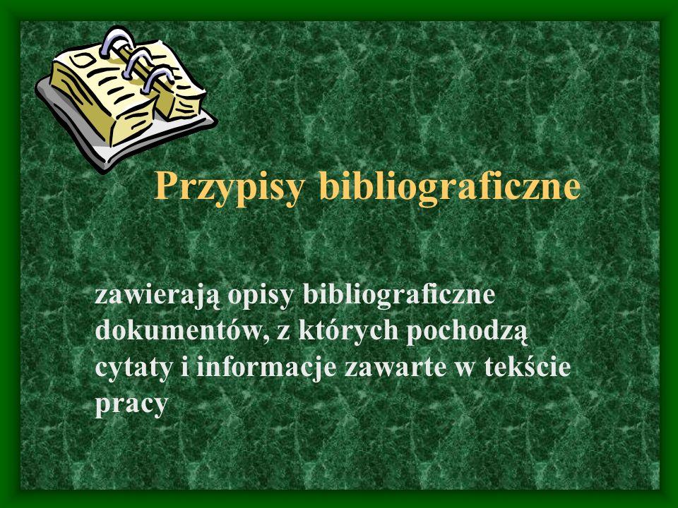 Przypisy bibliograficzne