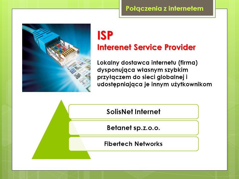 ISP Interenet Service Provider SolisNet Internet
