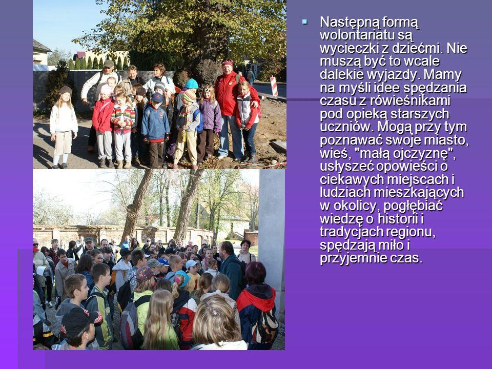 Następną formą wolontariatu są wycieczki z dziećmi