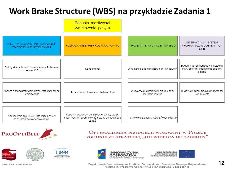 Work Brake Structure (WBS) na przykładzie Zadania 1