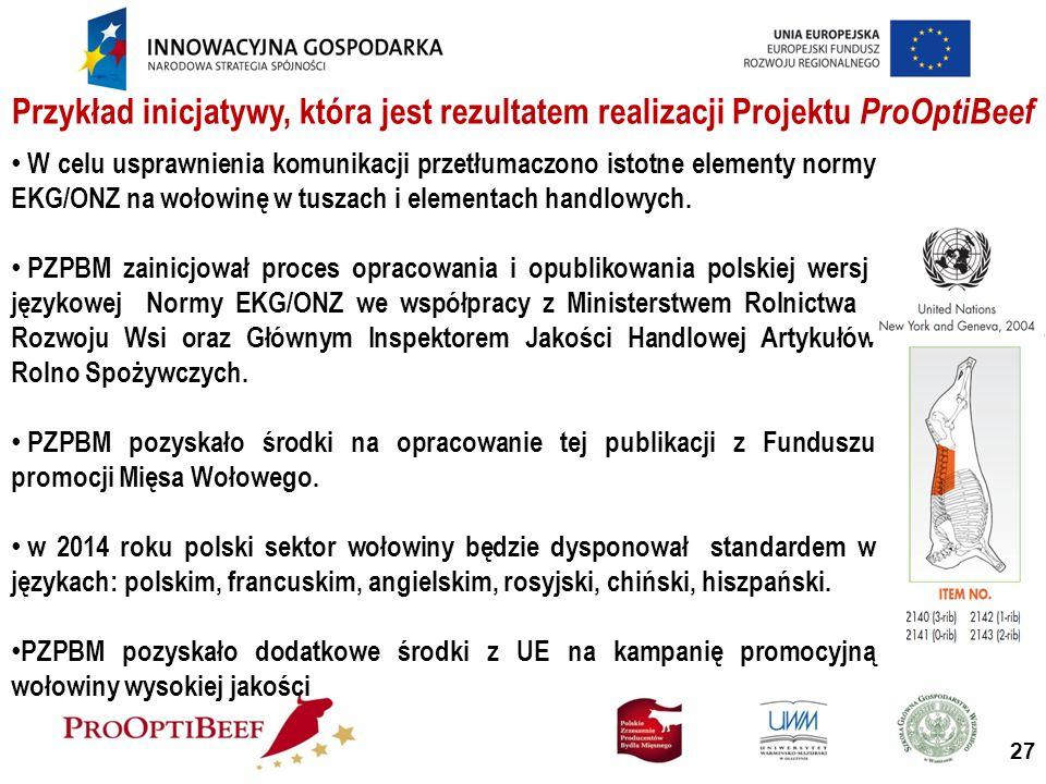 Przykład inicjatywy, która jest rezultatem realizacji Projektu ProOptiBeef