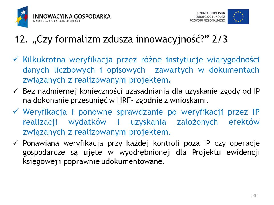 """12. """"Czy formalizm zdusza innowacyjność 2/3"""