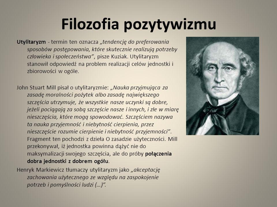 Filozofia pozytywizmu
