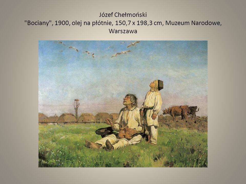 Józef Chełmoński Bociany , 1900, olej na płótnie, 150,7 x 198,3 cm, Muzeum Narodowe, Warszawa