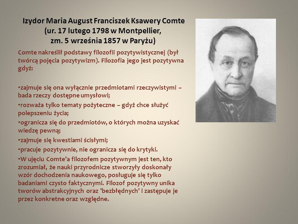 Izydor Maria August Franciszek Ksawery Comte (ur