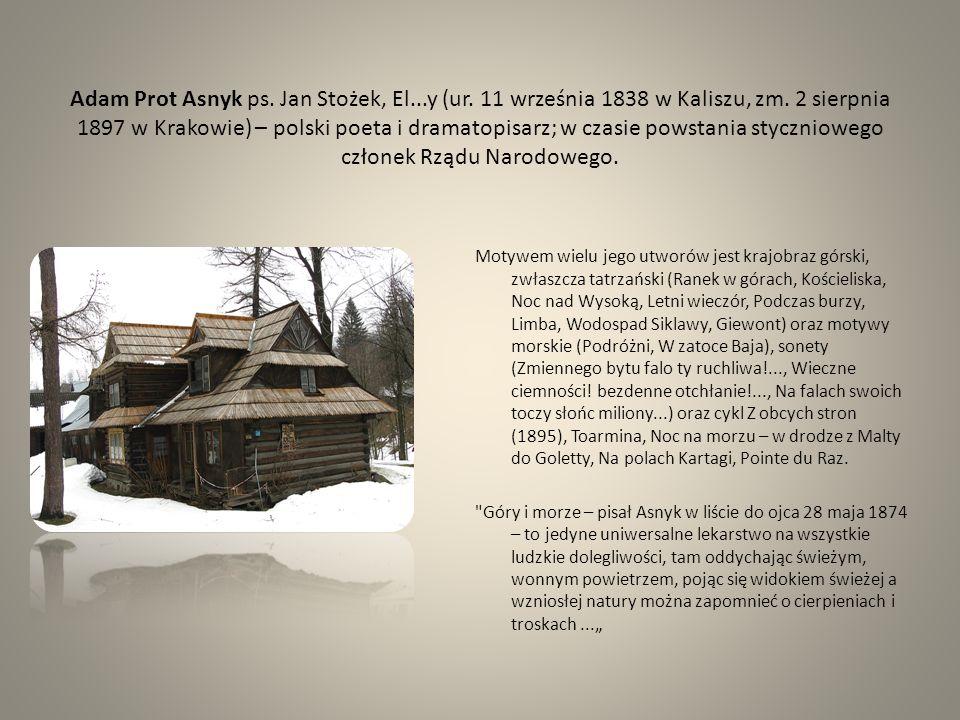 Adam Prot Asnyk ps. Jan Stożek, El. y (ur