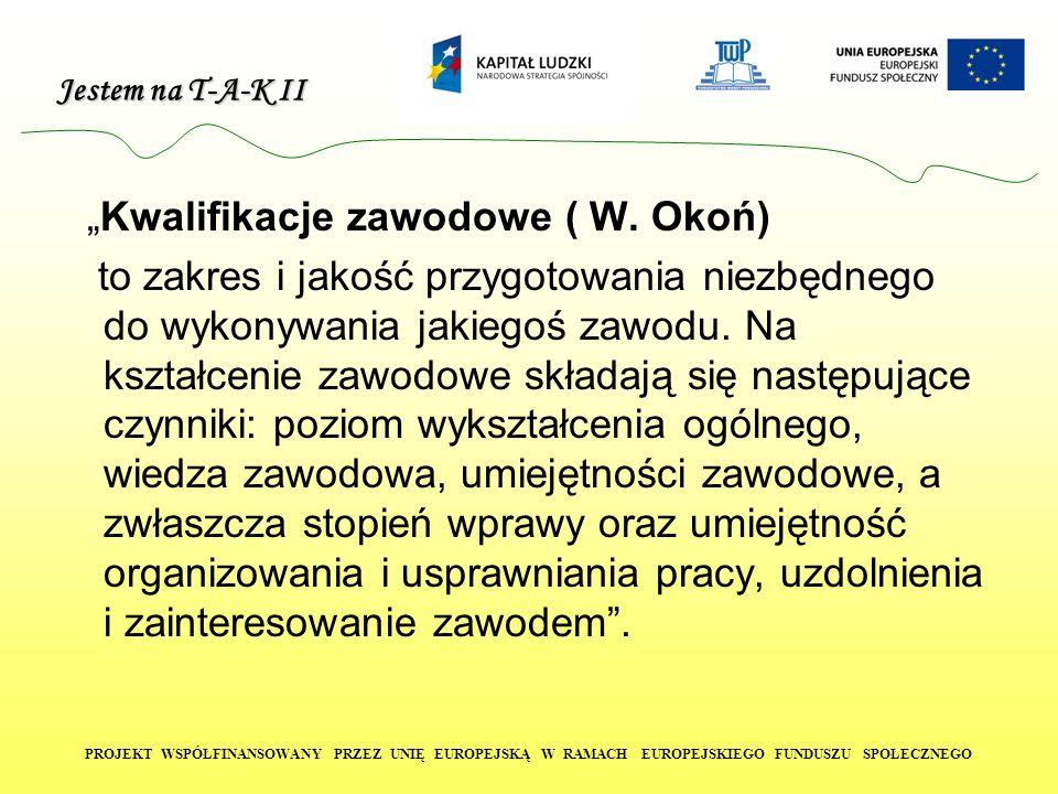 """""""Kwalifikacje zawodowe ( W. Okoń)"""