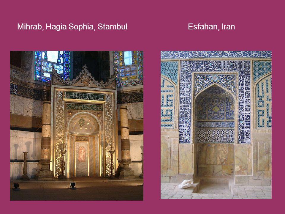 Mihrab, Hagia Sophia, Stambuł Esfahan, Iran