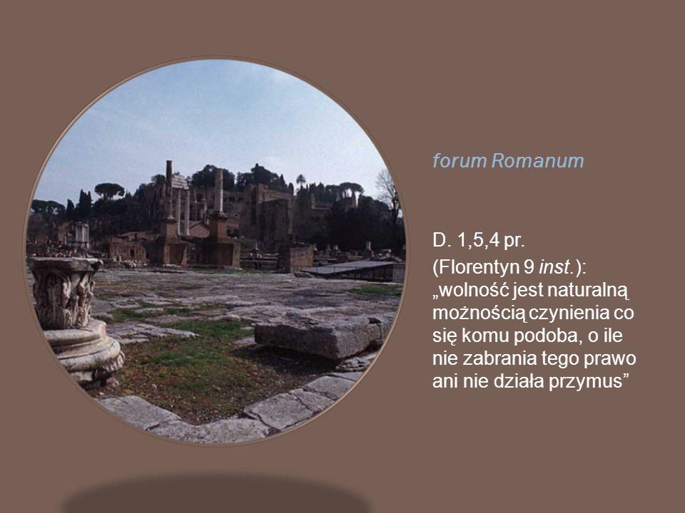 forum Romanum D. 1,5,4 pr.