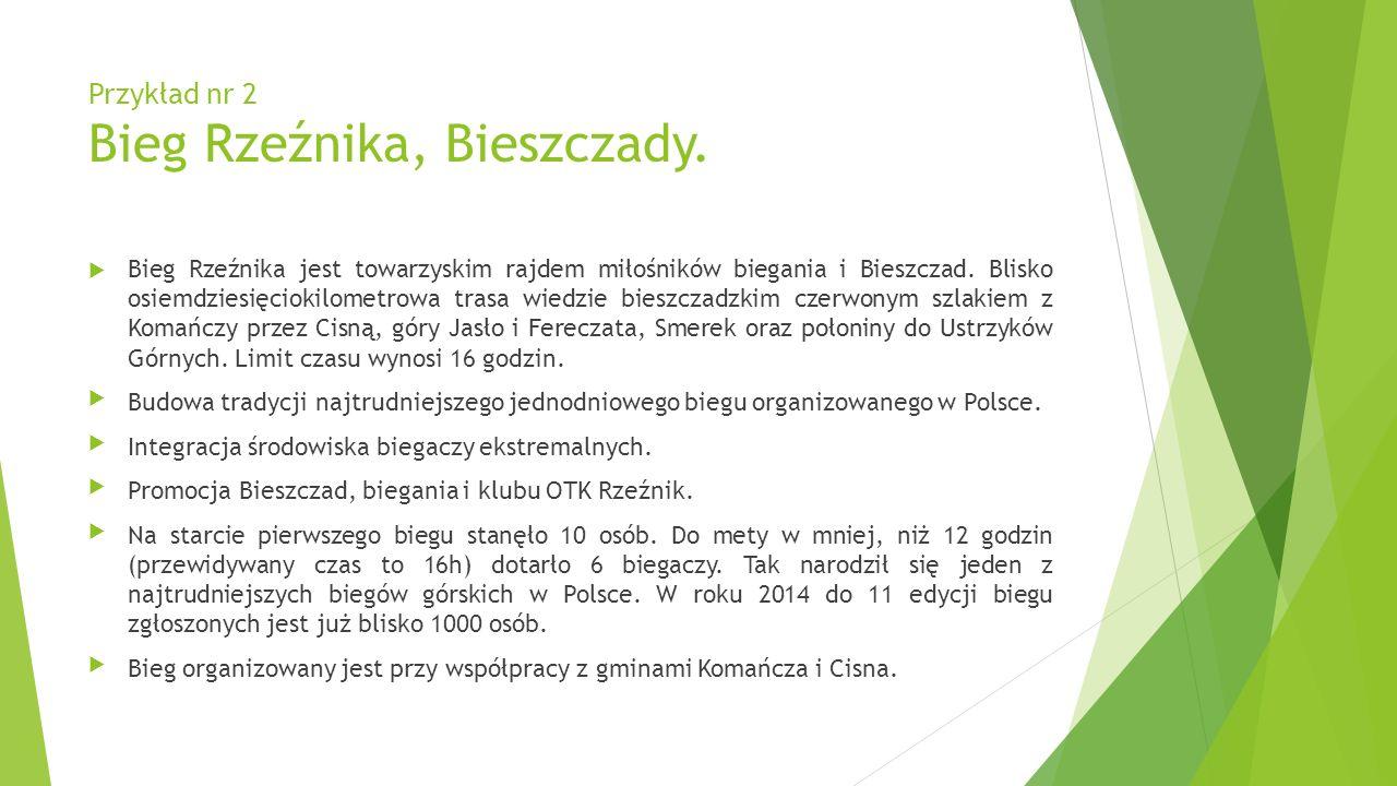 Przykład nr 2 Bieg Rzeźnika, Bieszczady.