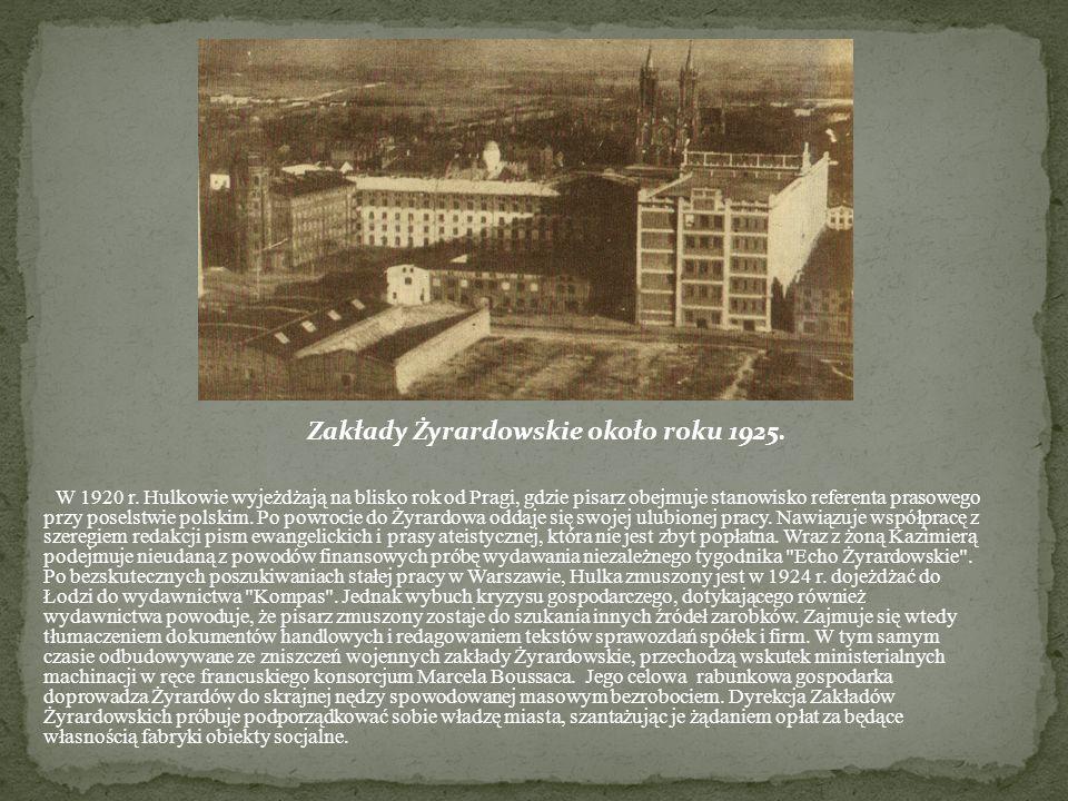 Zakłady Żyrardowskie około roku 1925.
