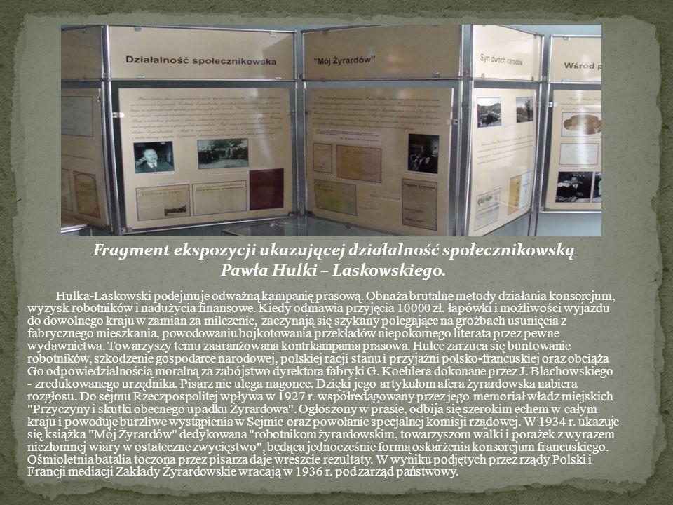 Fragment ekspozycji ukazującej działalność społecznikowską