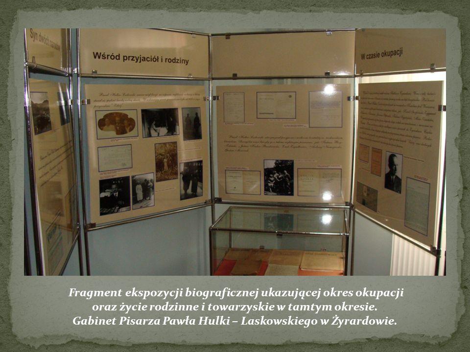 Fragment ekspozycji biograficznej ukazującej okres okupacji