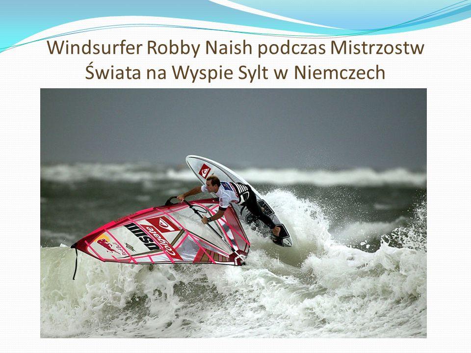 Windsurfer Robby Naish podczas Mistrzostw Świata na Wyspie Sylt w Niemczech