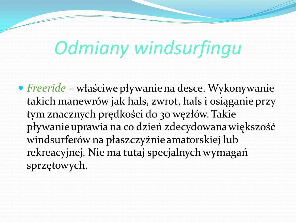 Odmiany windsurfingu