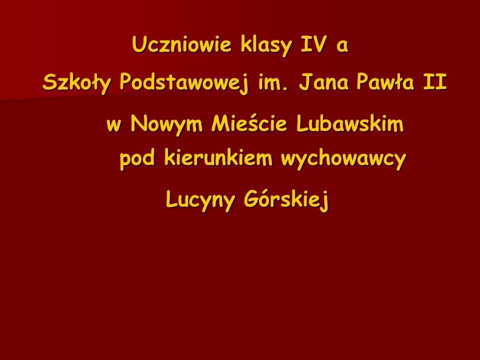 Szkoły Podstawowej im. Jana Pawła II