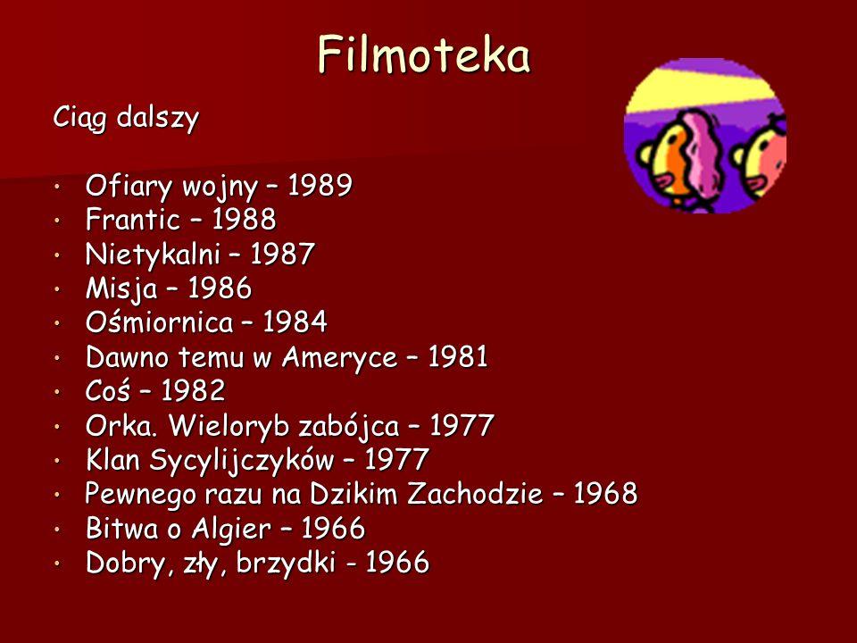 Filmoteka Ciąg dalszy Ofiary wojny – 1989 Frantic – 1988