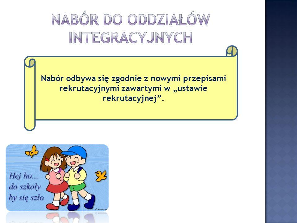 """Nabór odbywa się zgodnie z nowymi przepisami rekrutacyjnymi zawartymi w """"ustawie rekrutacyjnej ."""