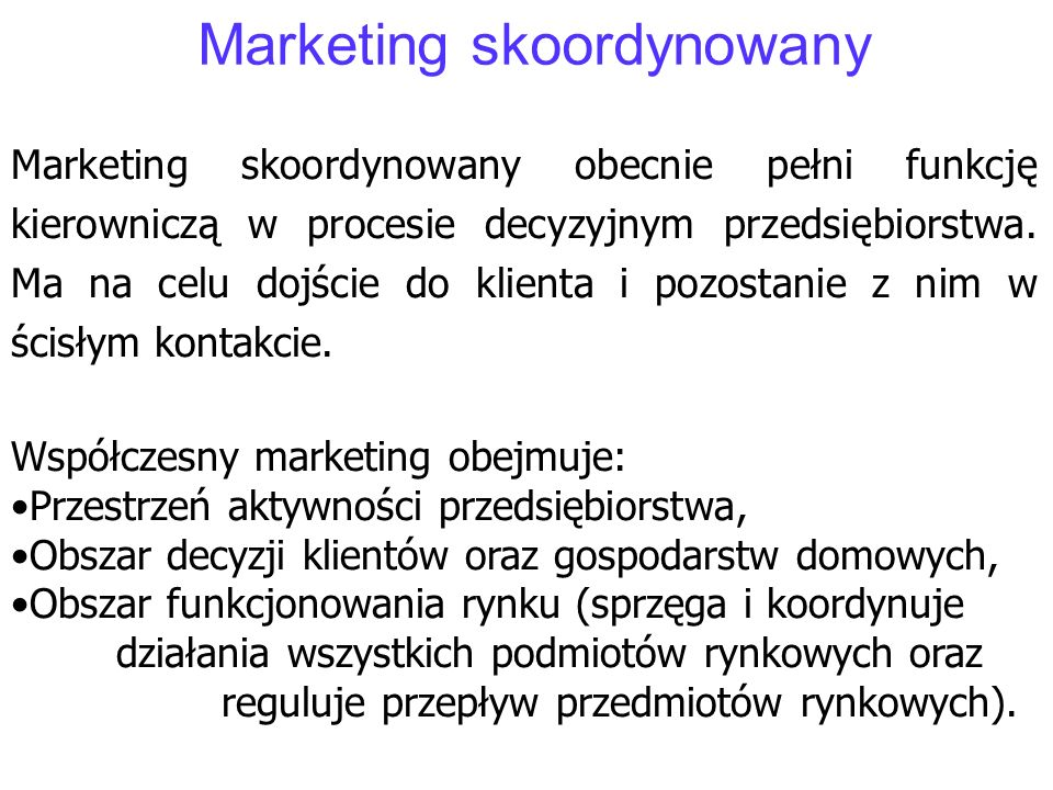 Marketing skoordynowany
