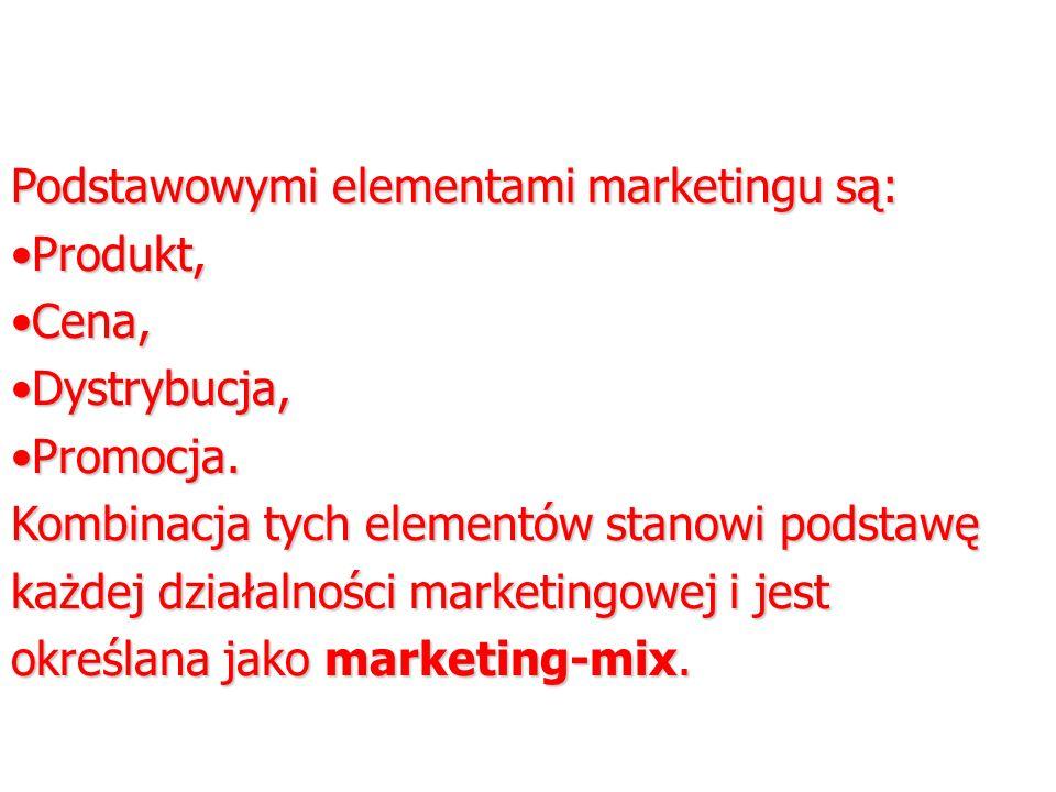 Podstawowymi elementami marketingu są: