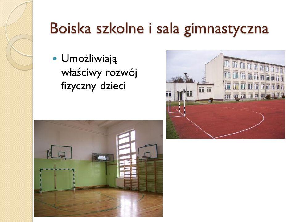 Boiska szkolne i sala gimnastyczna